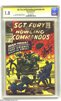 Sgt. Fury and His Howling Commandos #40 (Marvel, 1967) CGC GD- 1.8 Off-white pages. Signature Series. Dick Ayers cover a...