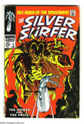 Silver Age (1956-1969):Superhero, The Silver Surfer #3 (Marvel, 1968) Condition VG+. John Buscema art. First appearance Mephisto. Overstreet 2003 VG 4.0 value...