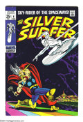 Silver Age (1956-1969):Superhero, The Silver Surfer #4 (Marvel, 1969) Condition: VF-. John Buscema art. Thor appearance. Low distribution; square bound. Overs...