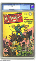 Golden Age (1938-1955):Superhero, Star Spangled Comics #30 (DC, 1944) CGC VF 8.0 Light tan to off-white pages. Simon and Kirby cover and art. Overstreet 2003 ...