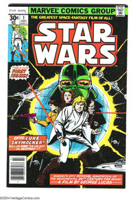 Star Wars #1 (Marvel, 1977) Condition: NM-. Regular 30 cent edition. Overstreet 2003 VF/NM 9.0 value = $40; NM 9.4 value...