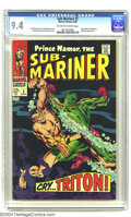 Silver Age (1956-1969):Superhero, The Sub-Mariner #2 (Marvel, 1968) CGC 9.4 Off-white to white pages. John Buscema cover and interior art. Triton battles Sub-...