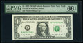 Fr. 1920-B $1 1993 Federal Reserve Notes. Two Examples. PMG Gem Uncirculated 66 EPQ. ... (Total: 2 notes)