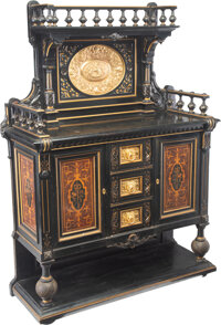 An American Painted and Partial Gilt Wood and Gilt Bronze Server Attributed to Kimbel & Cabus, late 19th century 6...