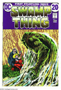 Bronze Age (1970-1979):Horror, Swamp Thing #1 (DC, 1972) Condition: VF. Bernie Wrightson art.Overstreet 2003 VF/NM 8.0 value = $89....