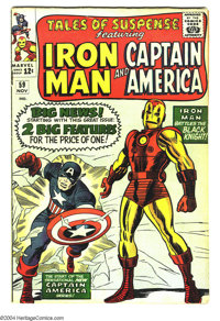 Tales of Suspense #59 (Marvel, 1964) Condition: VG. First appearance of Jarvis (the Avengers' butler). Captain America/I...