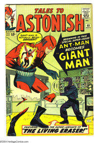 Tales to Astonish #49 (Marvel, 1963) Condition: VG/FN. Ant-Man becomes Giant Man. Don Heck cover art. Jack Kirby and Don...