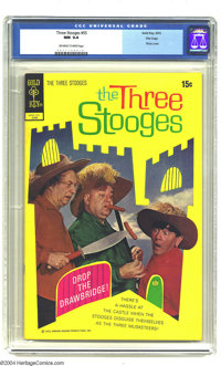 Three Stooges, The #55 File Copy (Gold Key, 1972) CGC NM 9.4 Off-white to white pages. Last issue. Photo cover. Overstre...