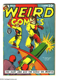 Weird Comics #15 (Fox Features Syndicate, 1941) Condition: Apparent FN. Moderate restoration includes: color touch, tape...