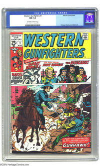 Western Gunfighters #1 (Marvel, 1970) CGC NM 9.4 Off-white to white pages. Ghost Rider appearance. Art by Herb Trimpe, S...