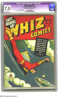 Whiz Comics #23 (Fawcett, 1941) CGC Apparent FN/VF 7.0 Slight (P) Cream to off-white pages. C. C. Beck and George Tuska...