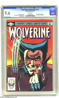 Wolverine (limited series) #1 (Marvel, 1982) CGC NM+ 9.6 White pages. Frank Miller art. First solo Wolverine comic. Over...