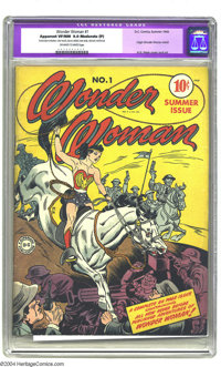 Wonder Woman #1 (DC, 1942) CGC Apparent VF/NM 9.0 Moderate (P) Off-white to white pages. Wonder Woman gets her own title...