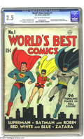 World's Best Comics #1 (DC, 1941) CGC GD+ 2.5 Light tan to off-white pages. Creig Flessel, Paul Gustavson and Bob Kane a...