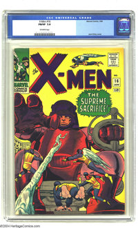 X-Men #16 (Marvel, 1966) CGC FN/VF 7.0 Off-white pages. Jack Kirby cover. Overstreet 2003 FN 6.0 value = $48; VF 8.0 val...