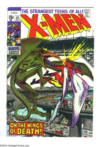 X-Men #61 (Marvel, 1969) Condition: NM-. Neal Adams art. Great Angel vs. Sauron cover. Overstreet 2003 NM 9.4 value = $1...