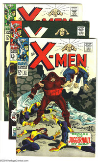 X-Men #32-35 Group (Marvel, 1967) Condition: Average FN. Spider-Man appearance in $35. Overstreet 2003 value for group =...
