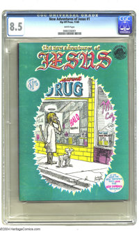 The New Adventures of Jesus First Edition (Rip Off Press, 1969) CGC VF+ 8.5 White pages. Foolbert Sturgeon (Frank Stack)...