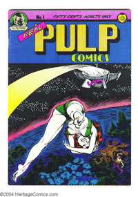 """Real Pulp Comics #1 (Print Mint, 1971) Condition: FN. Art by Roger Brand, Bill Griffith (early """"Zippy the Pinhead&q..."""