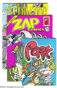 Underground Comix Group Group (Various, 1971-79). Get into these cool Undergrounds: Pork (VF+, S. Clay Wilson); Zap...