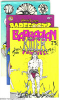 Bronze Age (1970-1979):Alternative/Underground, Underground Comix Group Group (Various, 1971-84). Wild mix of various Undergrounds: Barbarian Killer Funnies (FN); Bar... (Total: 7 Comic Books Item)
