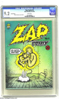 Silver Age (1956-1969):Alternative/Underground, Zap Comix 0 (Apex Novelties, 1968) CGC NM- 9.2 White pages. Fourthprinting of this classic Robert Crumb solo issue. Undergr...