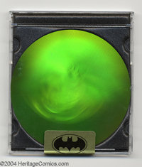 SkyBox Limited Edition Batman SkyDisc (SkyBox, 1994). This CD-sized hologram allows the view to view the Batman at any a...