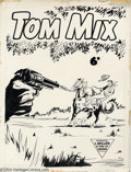 Original Comic Art:Covers, Mick Anglo (attributed) - Original Cover Art for Tom Mix #114 (L.Miller). This cover was done for a L. Miller and Son Ltd.,...