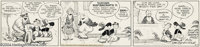 Billy DeBeck - Original Comic Strip Art for Barney Google Daily dated 2-7-38 (King Features, 1938). Barney Google and Sn...