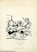 Original Comic Art:Covers, Paul Fung Jr. - Original Cover Art for Blondie Comics (Harvey,undated). Dagwood and Daisy are the hunted rather than the hu...