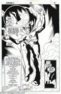 Original Comic Art:Splash Pages, Tony Harris and Wade Von Grawbadger - Original Art Splash Page forStarman #33, page 4 (DC, 1997). Alan Scott, the original ...