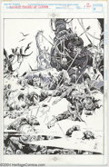 Original Comic Art:Splash Pages, Alex Nino - Original Splash Page Art for Savage Sword of Conan#228, page 1 (Marvel, 1994). Alex Nino lends his highly decor...