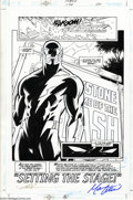 Original Comic Art:Splash Pages, Paul Pelletier and Jose Marzan Jr. - Original Splash Page Art forFlash #156, page 22 (DC, 2000). A dramatic portrayal of th...
