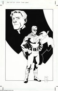 Original Comic Art:Splash Pages, Matt Smith - Original Art Pin Up Art of Alan Scott, the Golden AgeGreen Lantern (1998). Green Lantern's chest insignia is r...