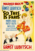 Movie Posters:Comedy, So This is Paris (Warner Brothers, 1926)....