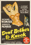 Movie Posters:Drama, Don't Bother to Knock (20th Century Fox, 1952)....