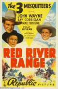 """Movie Posters:Western, Red River Range (Republic, 1938). One Sheet (27"""" X 41""""). John Waynestarred in Republic's B westerns during the late 1930s, ..."""