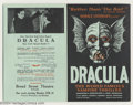 Movie Posters:Horror, Dracula (Stage Play Herald, 1927)....