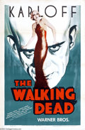 Movie Posters:Horror, The Walking Dead (Warner Brothers, R-1942)....