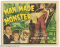 Movie Posters:Horror, Man Made Monster (Universal, 1941)....