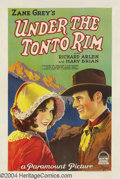 Movie Posters:Western, Under the Tonto Rim (Paramount, 1928)....