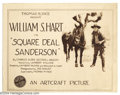 Movie Posters:Western, Square Deal Sanderson (Paramount, 1919).... (4 pieces)