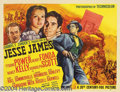 "Movie Posters:Western, Jesse James (20th Century Fox, 1939). Half Sheet (22"" X 28""). Thishighly glamorized epic western, starring Tyrone Power and..."
