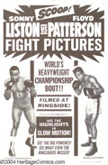 Movie Posters:Sports, Liston vs Patterson (Allied Artists, 1963)....