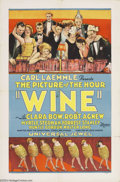 Movie Posters:Drama, Wine (Universal, 1924)....