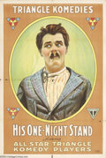 Movie Posters:Comedy, His One Night Stand (Triangle Distributing, 1917)....