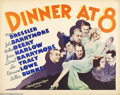 Movie Posters:Comedy, Dinner at Eight (MGM, 1933)....