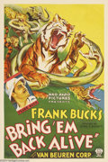 Movie Posters:Adventure, Bring 'Em Back Alive (RKO, 1932)....