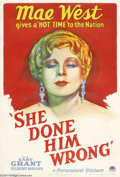 Movie Posters:Comedy, She Done Him Wrong (Paramount, 1933)....
