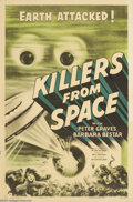 Movie Posters:Science Fiction, Killers From Space (RKO, 1954)....